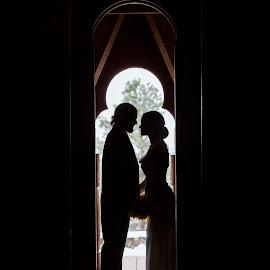 by Sandra Nichols - Wedding Bride & Groom