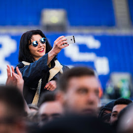 reveller at Libertines gig by Dave Hudson - People Street & Candids