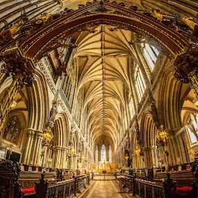 Lichfield Cathedral. by Simon Page - Buildings & Architecture Places of Worship