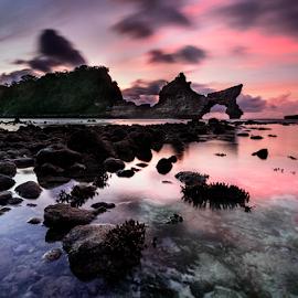 Atuh beach by Raung Binaia - Landscapes Beaches