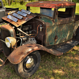 Old, Old Truck by Benito Flores Jr - Transportation Automobiles ( austin, truck, texas, car show )