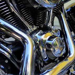 by Bill Foreman - Transportation Motorcycles ( motorcycles, engine, chrome, harley-davidson, pipes )
