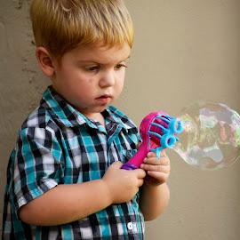 Big Bubble by Bill Telkamp - Babies & Children Children Candids ( child, candids, children, candid, childrens )