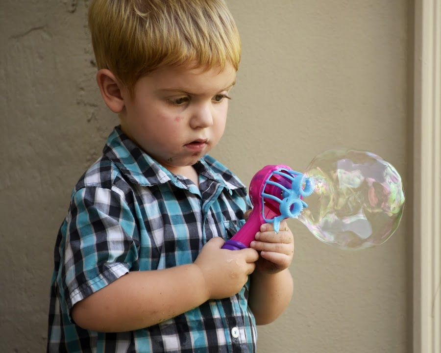 Big Bubble by Bill Telkamp - Babies & Children Children Candids ( child, candids, children, candid, childrens,  )