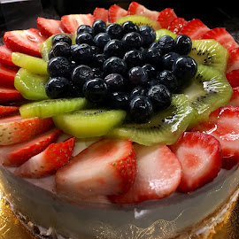 Strawberries, Kiwis and Blueberries  by Lope Piamonte Jr - Food & Drink Cooking & Baking