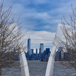 9/11 Memorial  by Karen VanderVlis - Buildings & Architecture Statues & Monuments ( #neverforget #i♥️ny )