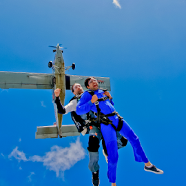 Happy Fear by Ioannis Vlachiotis - Sports & Fitness Other Sports ( tandem, skydive, skydiving, greek, happy, greece, scared, sports, jump, fear )