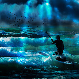 Waves by Svein I. Ask - Sports & Fitness Surfing ( clouds, water, surfing, waves, surf, storm )
