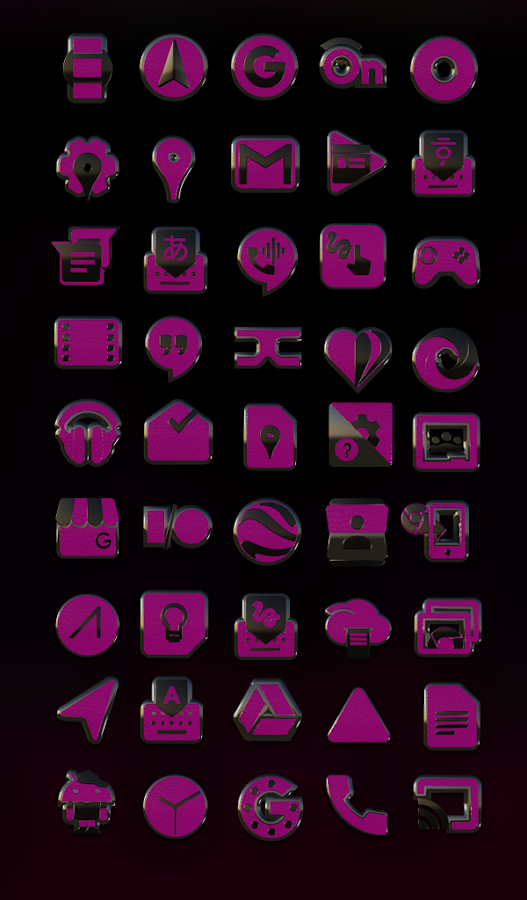 Pink E. HD Icon Pack Screenshot 1