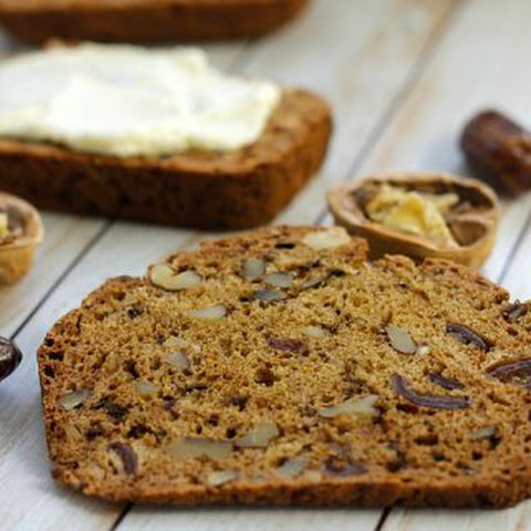 Date Nut Bread with Orange Cream Cheese Spread {The Recipe ReDux}