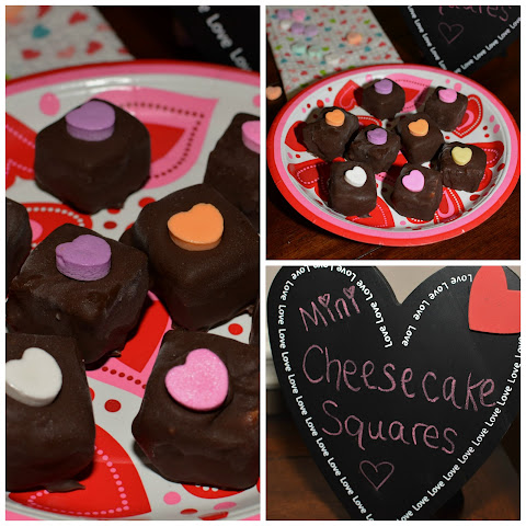 Valentine Mini Cheesecake Squares