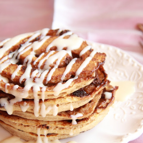 Chocolate Cinnamon Roll Pancakes