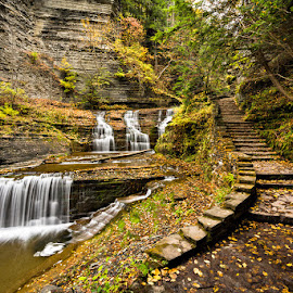 Take a walk by Ben Podolak - Landscapes Waterscapes ( state park, buttermilk falls, waterfall, new york, hiking )