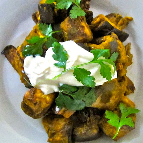 Indian-Style Curried Eggplant in the Slow Cooker
