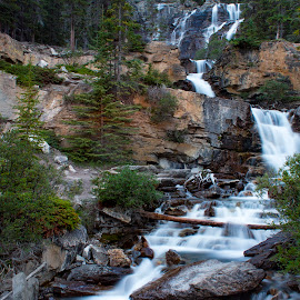 waterfall by Praveen Mathew - Landscapes Mountains & Hills ( mountain, waterfall, streams, woods )