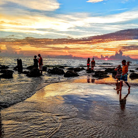Sunset along Reddington Beach Fl. by Jeffrey Lee - People Street & Candids ( sunset along reddington beach fl. )