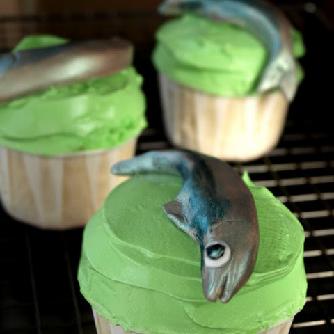 Spinach and Sardine Cupcakes