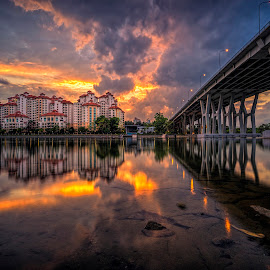 Raging Sky by Gordon Koh - City,  Street & Park  Vistas