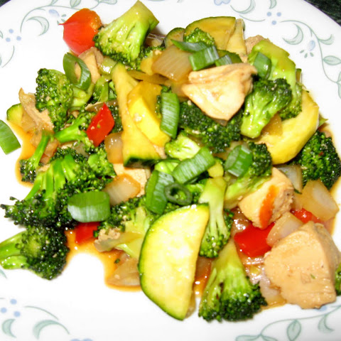 Chicken Stir Fry with Sesame Sauce