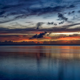 Sunset  by Peter Schoeman - Landscapes Travel ( clouds, sky, sunset, indonesia, bunaken, evening, colours )