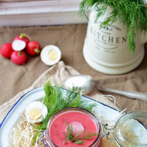 Chłodnik (cold Polish Beetroot Soup)