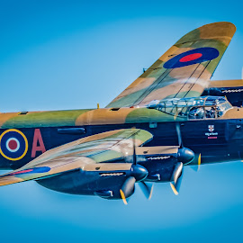 Lancaster, City of Lincoln. by Anthony P Morris - Transportation Airplanes ( plane, anthony morris, bomber, lancaster, cityoflincoln )