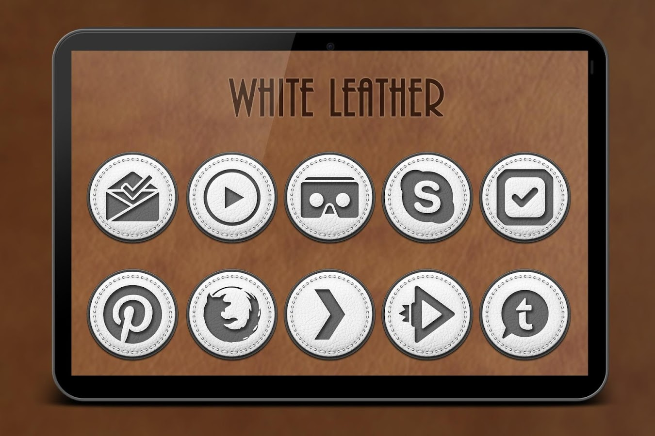 White Leather Icon Pack Screenshot 7