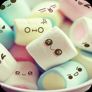 Cute Cartoon Marshmallow Comic Theme Candy Skins
