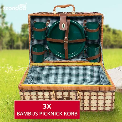 Bambus Picknick Korb