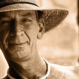 gregg by David Ubach - People Portraits of Men ( sepia, florida, man, portrait, hat )