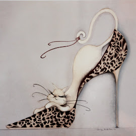 The Cat Shoe  by Colette Edwards - Artistic Objects Clothing & Accessories (  )