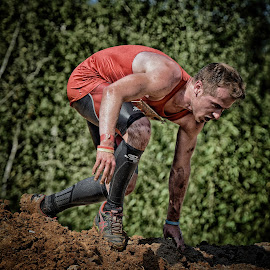 Do-Or-Die Mudder by Marco Bertamé - Sports & Fitness Other Sports ( mudday, do-or-die, red, mud, tough, running, man, mudder )