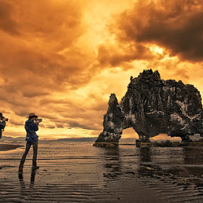 The last Dinosaur by Þorsteinn H. Ingibergsson - Nature Up Close Rock & Stone ( clouds, iceland, sky, nature, structor, stone, rock, landscape )