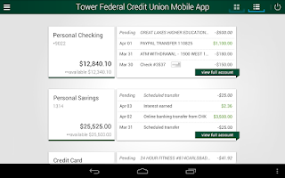 Screenshot of Tower Federal Credit Union