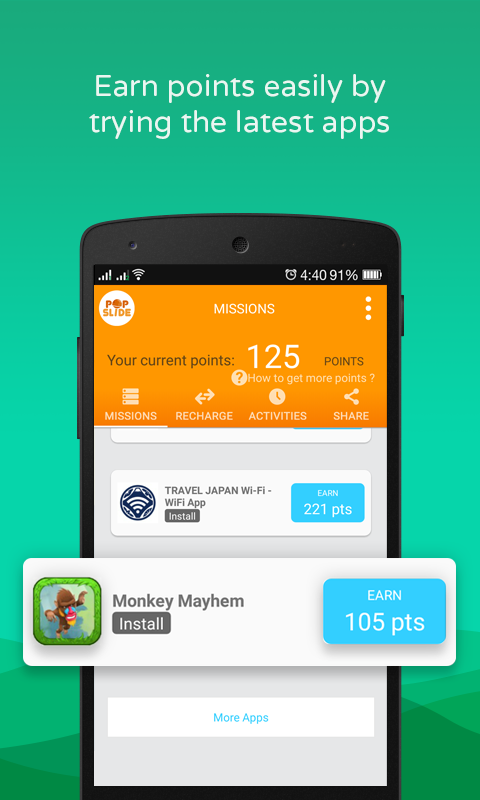 PopSlide:Earn Prepaid Recharge Screenshot 1