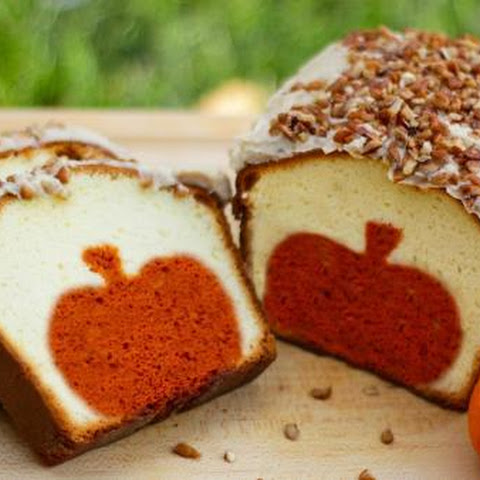 Peekaboo Pumpkin Pound Cake With Brown Butter Pecan Icing