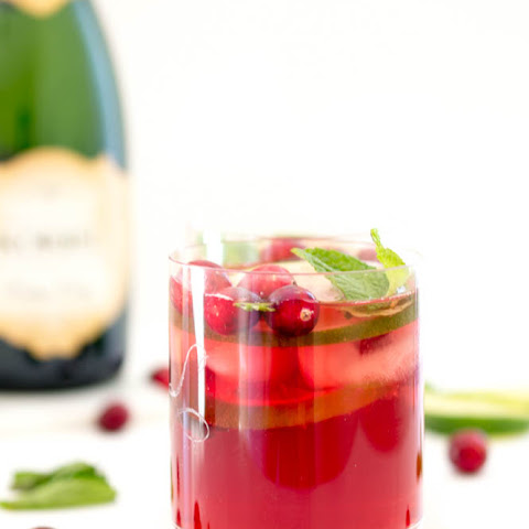 Pomegranate Cranberry Champagne Punch