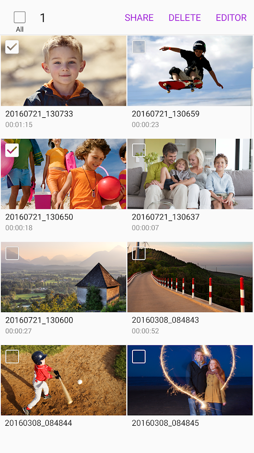 Samsung Video Library Screenshot 2