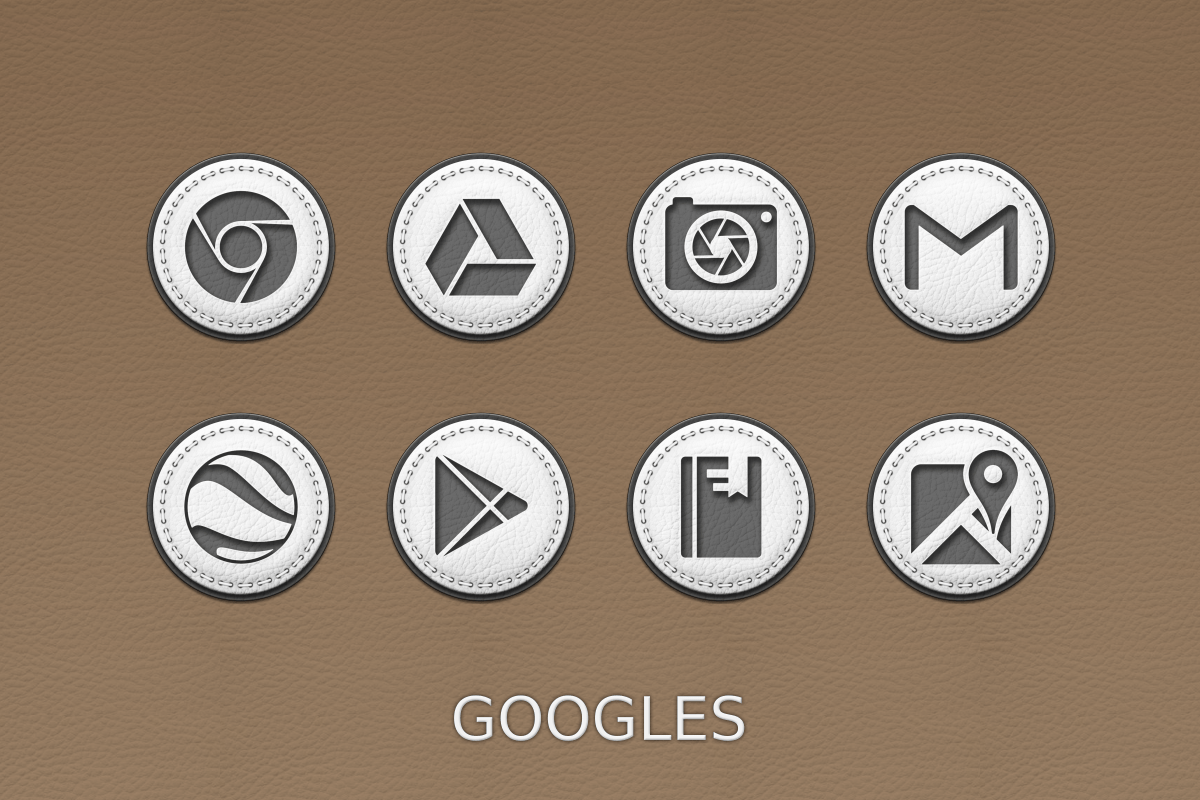 White Leather Icon Pack Screenshot 12