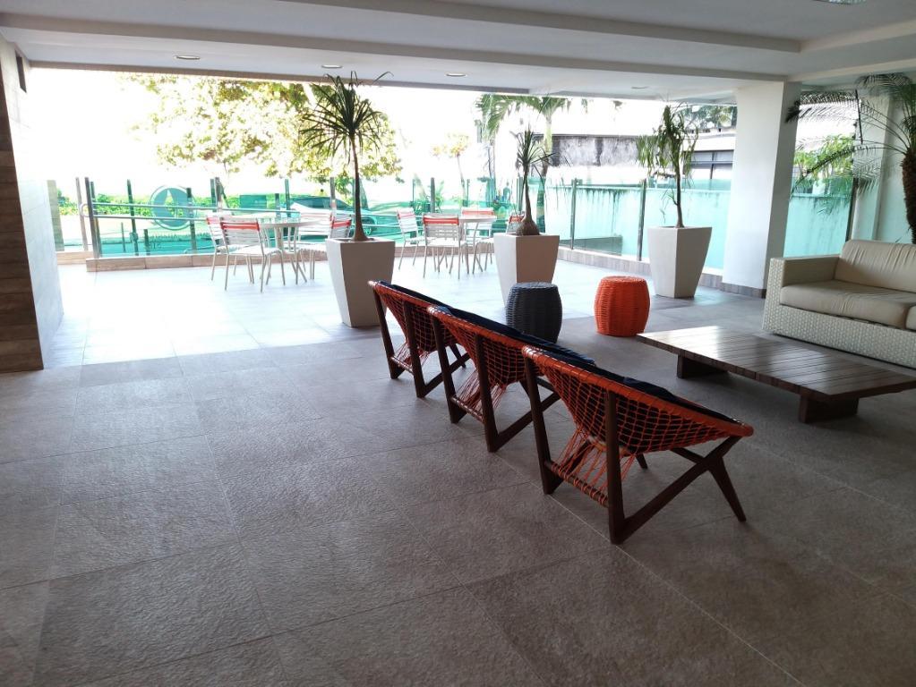 Apartamento com 1 dormitório para alugar temporada, 45 m² por R$ 170/dia - Orla de Cabo Branco - João Pessoa/PB