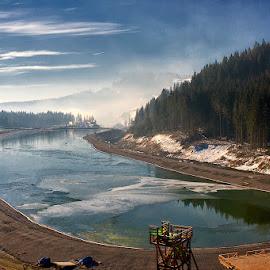 Deserted lake by Alexander Kaplya - Landscapes Cloud Formations