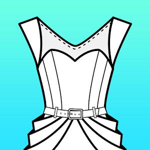 Fashion Design Flat Sketch For PC