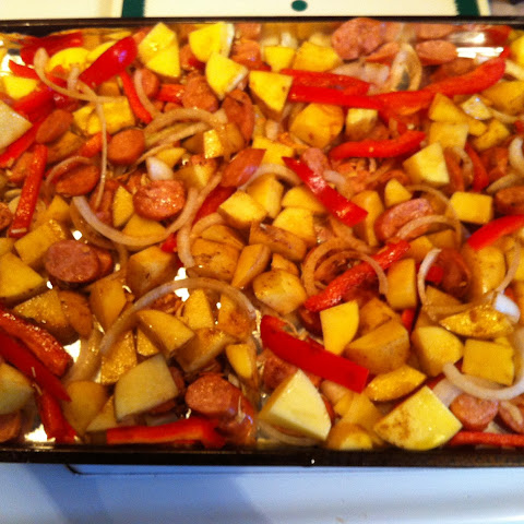 Oven Roasted Sausage & Potatoes