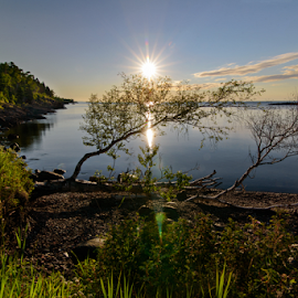Sunrise at Sugarloaf Cove by Jill Beim - Landscapes Sunsets & Sunrises ( waterscape, lake superior, sunrise, landscape,  )