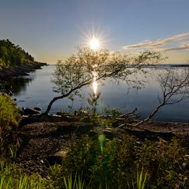 Sunrise at Sugarloaf Cove by Jill Beim - Landscapes Sunsets & Sunrises ( waterscape, lake superior, sunrise, landscape,  )