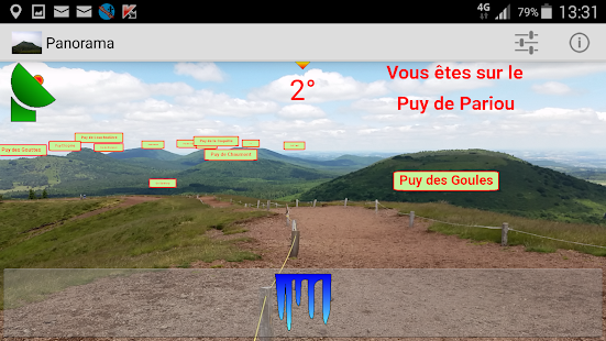 Panorama of La Chaine des Puys - screenshot