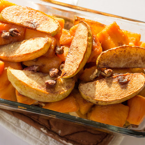 Cinnamon Apple Yam Bake With Pecans