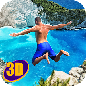 Swimming Pool Flip Diving 3D Icon