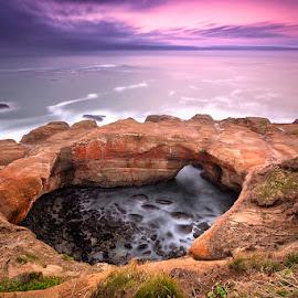 Devil's Punchbowl by Ken Smith - Landscapes Travel ( devil's punchbowl, oregon coast, sunrise, landscape )