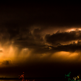 lighting in the distancee by Diane Davis - Landscapes Weather